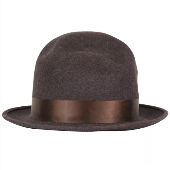 ff3e273bcc2 Dior Other - Galliano for Dior Brown Wool Felt Hat Size 8